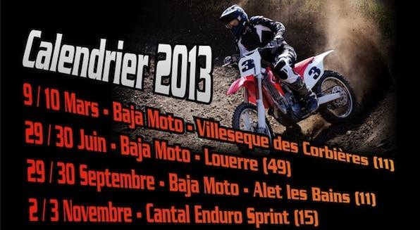 Des Bajas moto en France en 2013