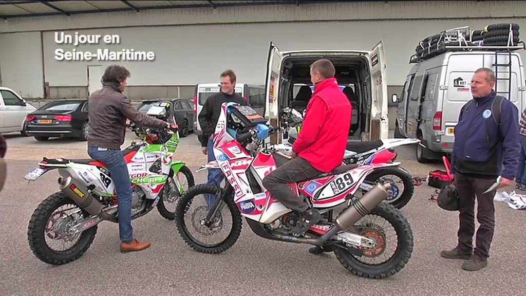 enduro magazine dakar 2015 vid o de l 39 embarquement au havre enduro magazine. Black Bedroom Furniture Sets. Home Design Ideas
