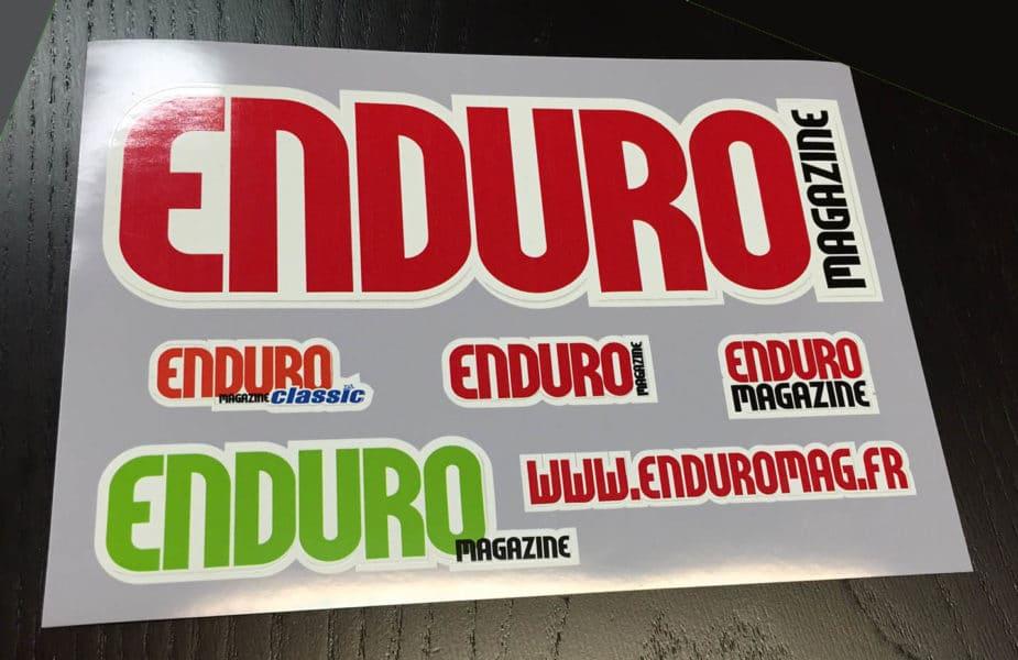sticker enduro magazine