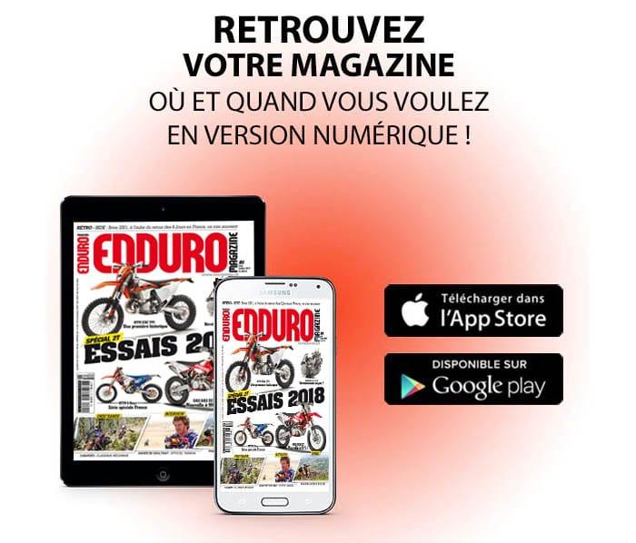 enduro magazine tablette